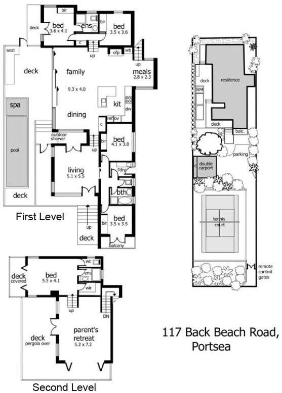 Split Level Beach Home In Back Beach Split Level House Plans Open House Plans Split Level