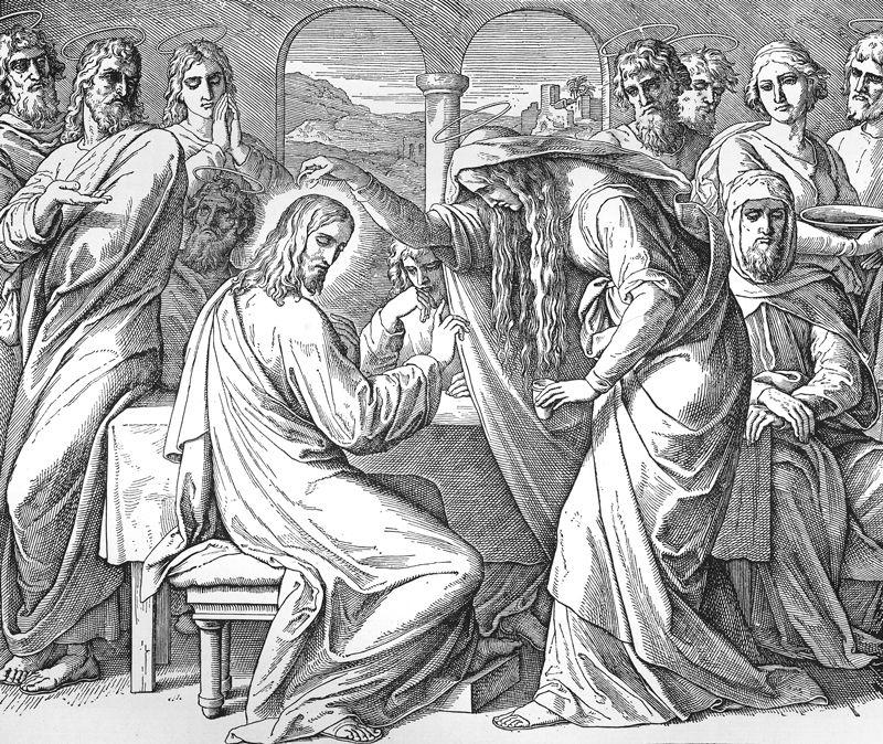 Bilder der Bibel - Jesus durch Maria gesalbt