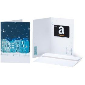 Amazon Com Gift Cards In A Greeting Card Free One Day Shipping Gift Card Amazon Gift Card Gift Idea Amazon Gift Card Christmas Gift Card Winter Design