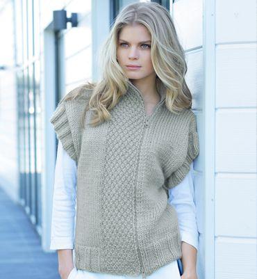 Modèle gilet sans manches femme - Modèles tricot femme - Phildar