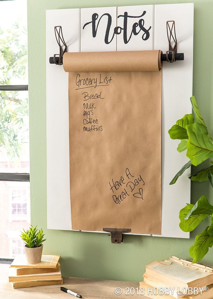 Ideas : Wood panels, hooks, and a thick dowel rod are the makings for a note-worthy memo board!