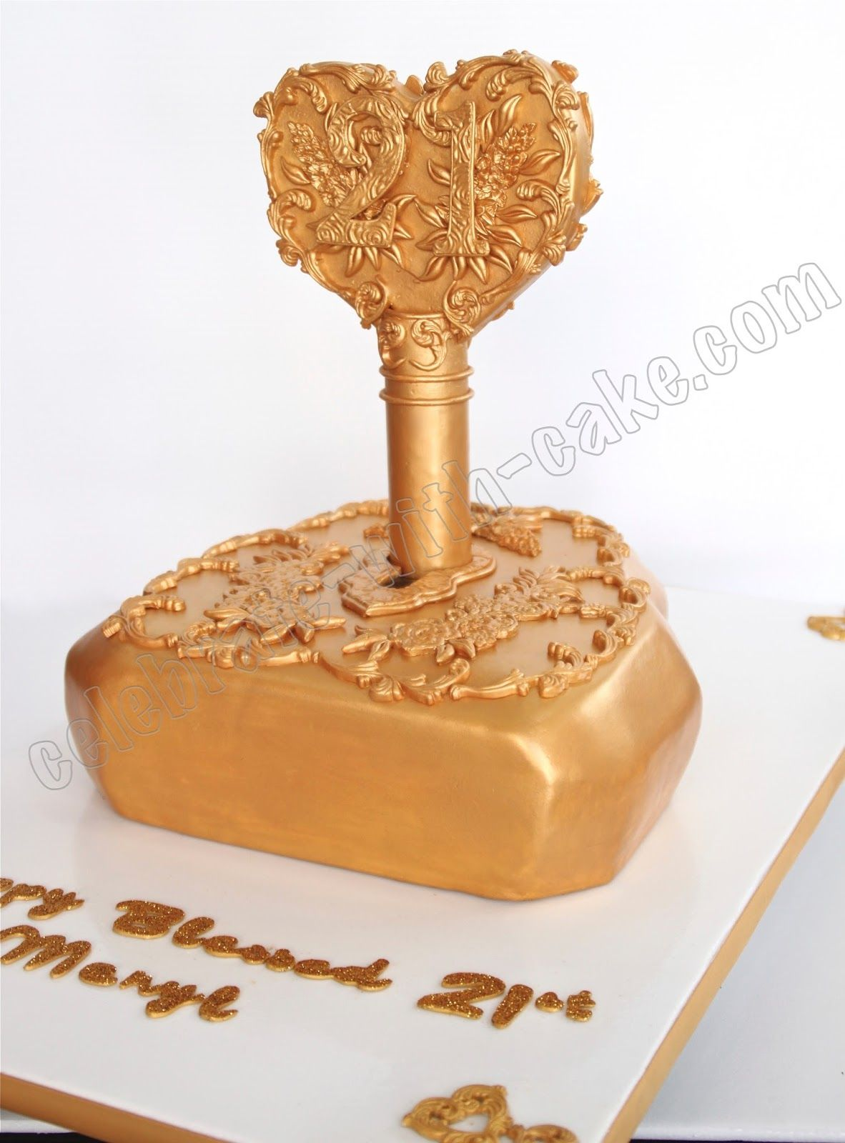 Lock And Key Cake Celebrate With Cake 21st Birthday