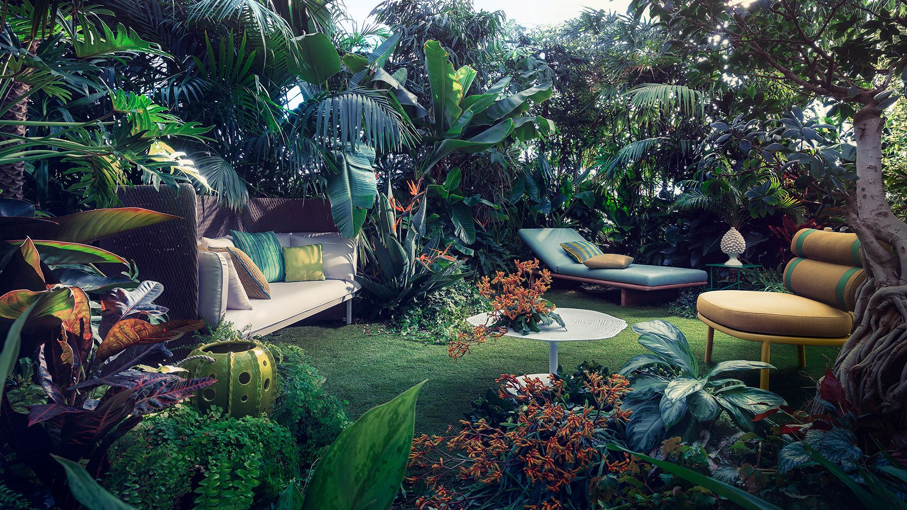 a tropical and jungle photographic series terrace gardeninterior