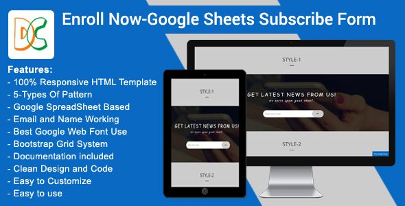 Enroll Now - Google Spreadsheet Subscribe Form