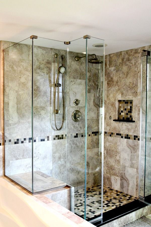 Charming This Custom Mud Set Shower Features Ceramic Tile Floor And Walls In A  Classic Color Palate