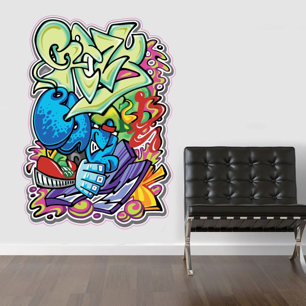 Graffiti wall vinyl - Large Wall Graffiti V2 Wall Sticker Vinyl Decal Wall Art Lounge Bedroom Kids