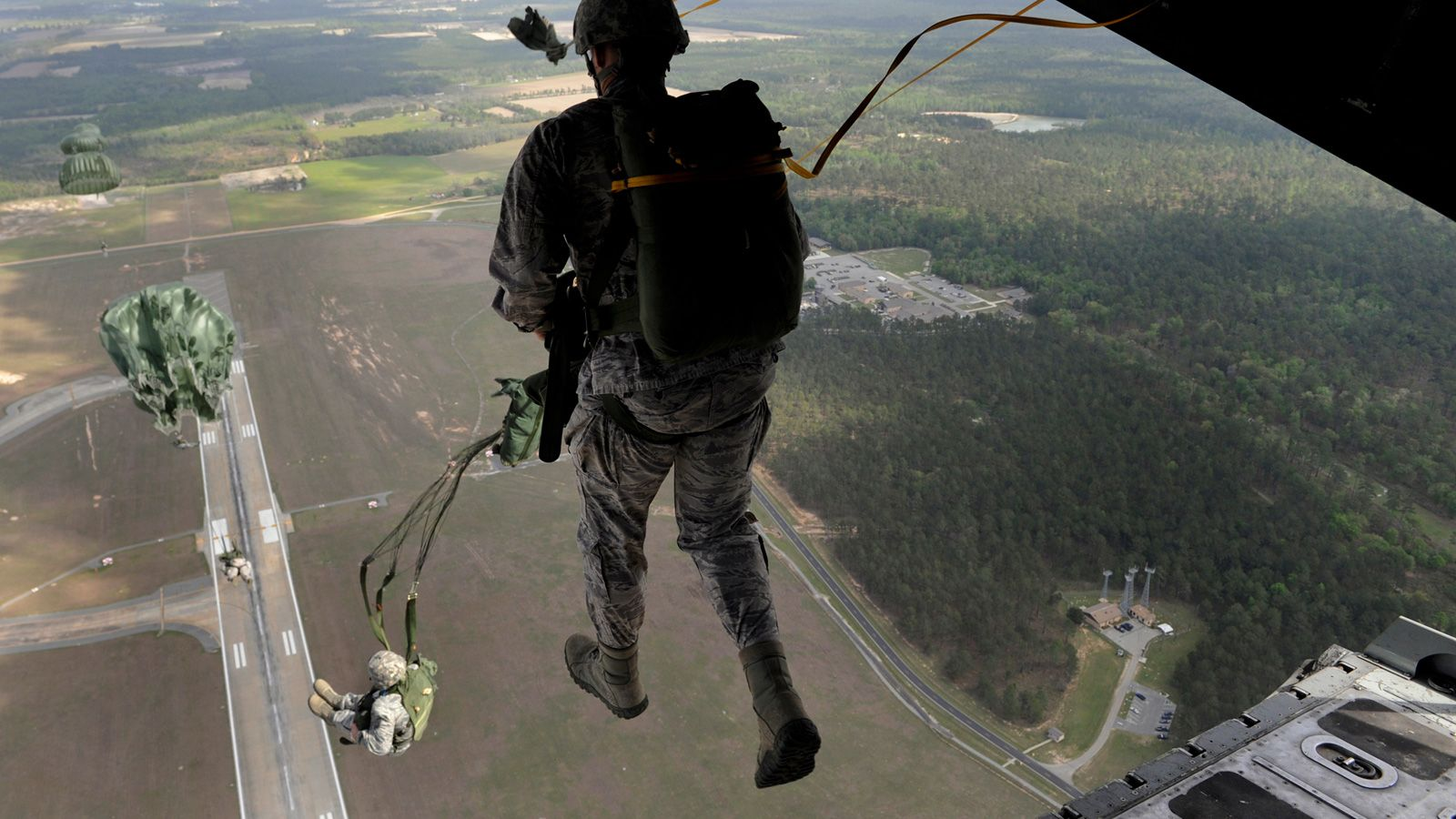 Paratrooper...walking on air