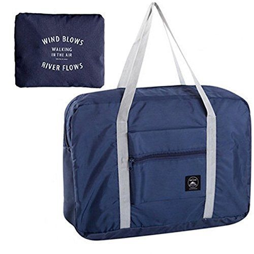 cfb5ee79148 ACEDICHY Travel Bag with High Capacity Foldable Storage Duffle Bag for  (Navy)  ACEDICHY