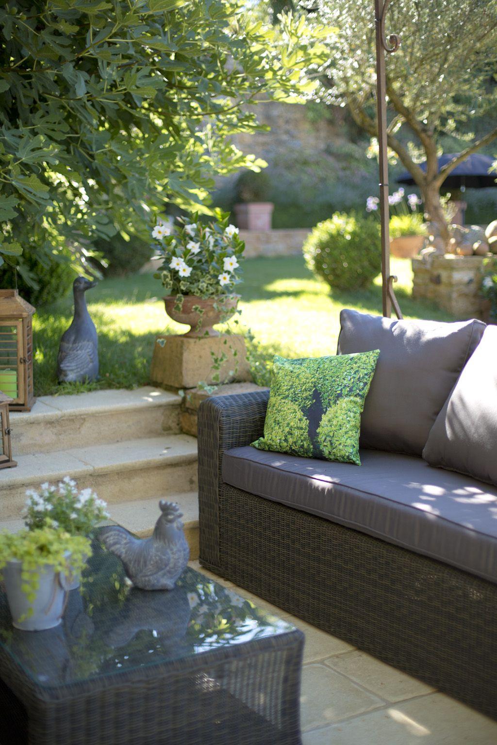 Ensemble salon de jardin - Table basse, canapé et fauteuils - Gamme ...