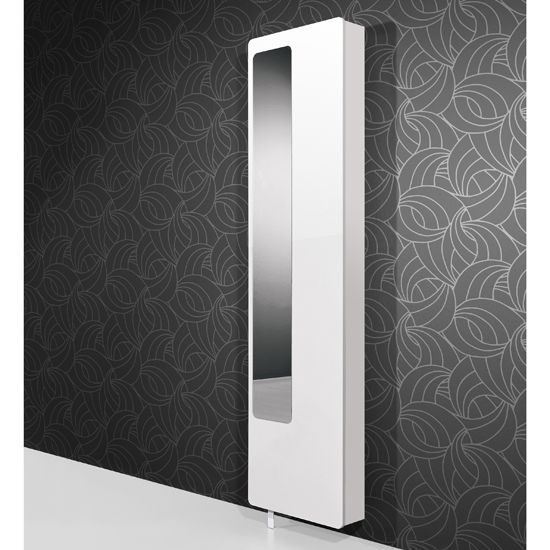White Hi Gloss Rotating Shoe Storage With Mirror, 1186 84; £189.95
