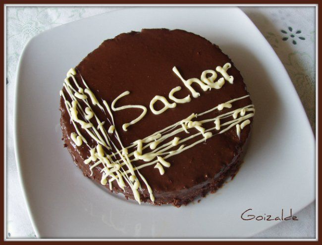 Tarta Sacher Cocinando Con Goizalde Tarta Sacher Tartas Tarta Dulces