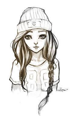 Teenage Girl Sketch : teenage, sketch, Rachelle, Drawings, Hipster, Drawings,