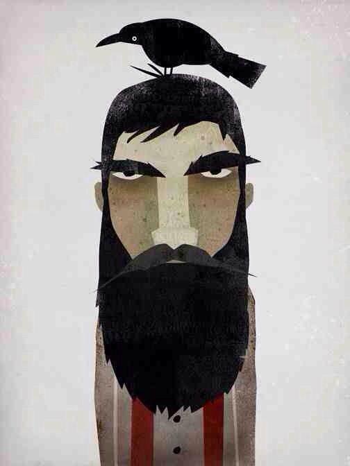 Lumberjack, Crow, and Mistletoe   NATIVE VERMONT STUDIO - Illustrations by Ryan Fowler