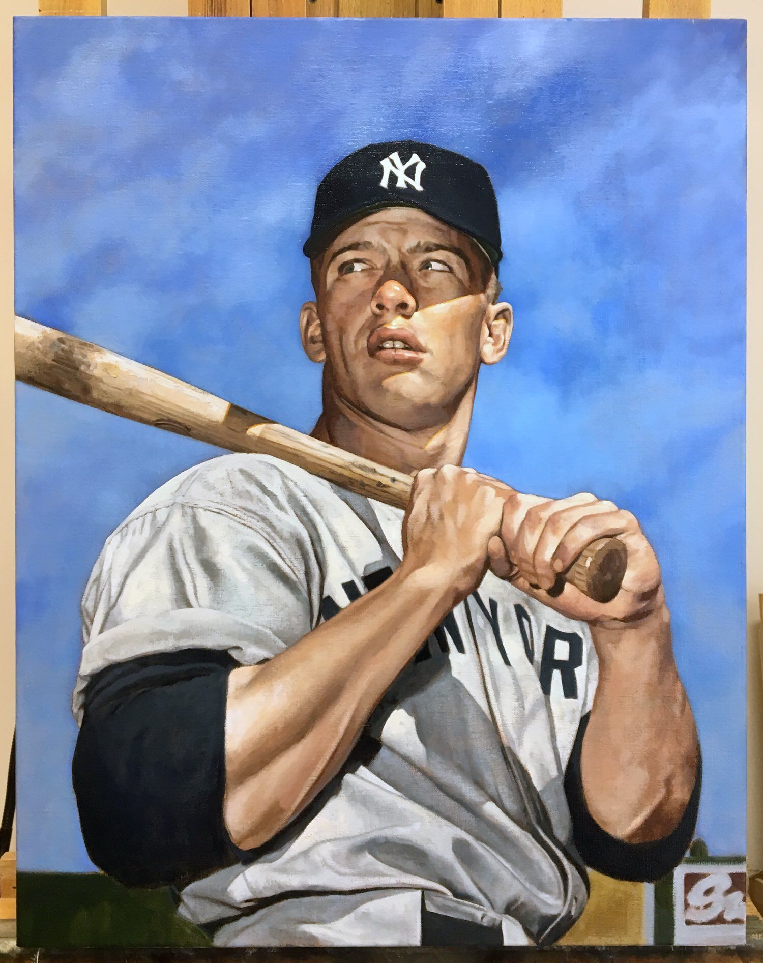 Graig Kreindler 1952 Topps Mickey Mantle Shot Sports Artartists