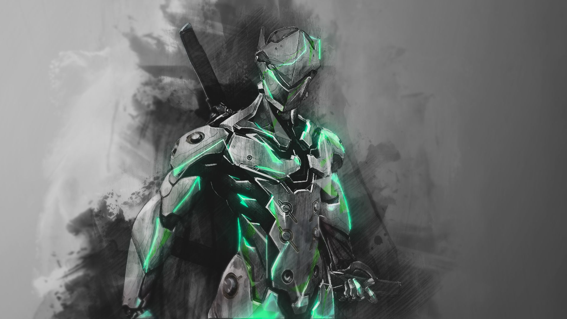 Genji Overwatch Wallpaper by RaycoreTheCrawler on