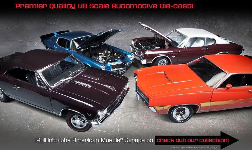 Diecast Muscle Cars Models Are For Illustration Purposes