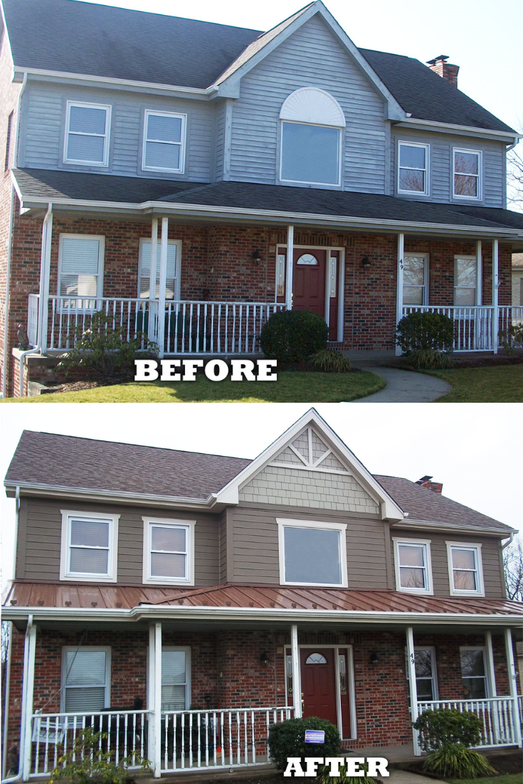 Before And After Exterior Renovation Featuring James Hardie Siding In 2020 Siding Options Fiber Cement Siding Options Hardie Siding