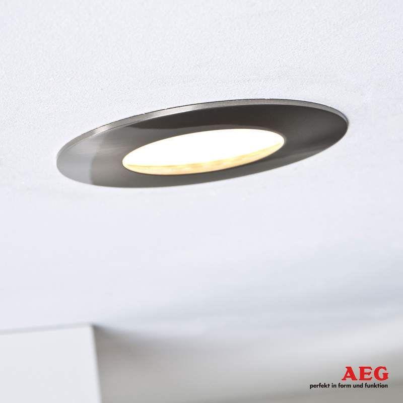 Aeg Orbita Led Einbaustrahler 3er Set Nikkel Mat 3erset Aeg Hauptbeleuchtung Ledeinbau In 2020 Ceiling Lights Light Lighting
