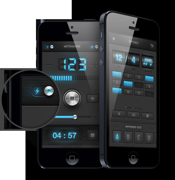 metronome app Interactive design, Mobile app design, App