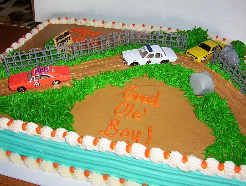 DUKES OF HAZZARD SHEET CAKE