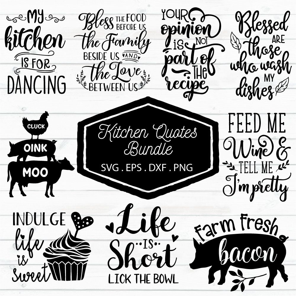 Kitchen Quotes Bundle Kitchen Quotes Funny Quotes