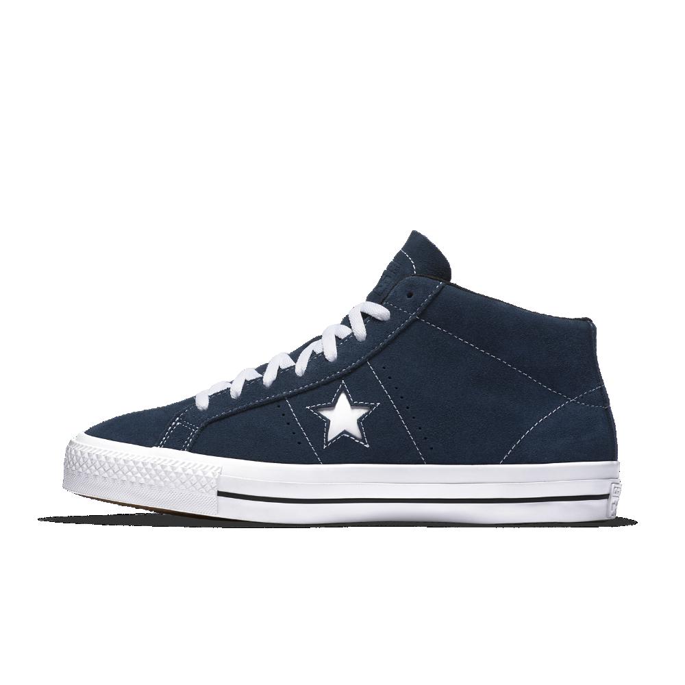 Converse Cons One Star Pro Suede Mid Top Men s Skateboarding Shoe Size 11.5  (Blue) ecab310e1