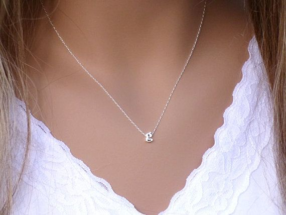 100% Sterling Silver Initial Necklace • Dainty Necklace