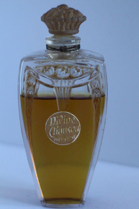 flacon ancien divine chanson parfums nice flore 1925 julien viard parfums pinterest. Black Bedroom Furniture Sets. Home Design Ideas
