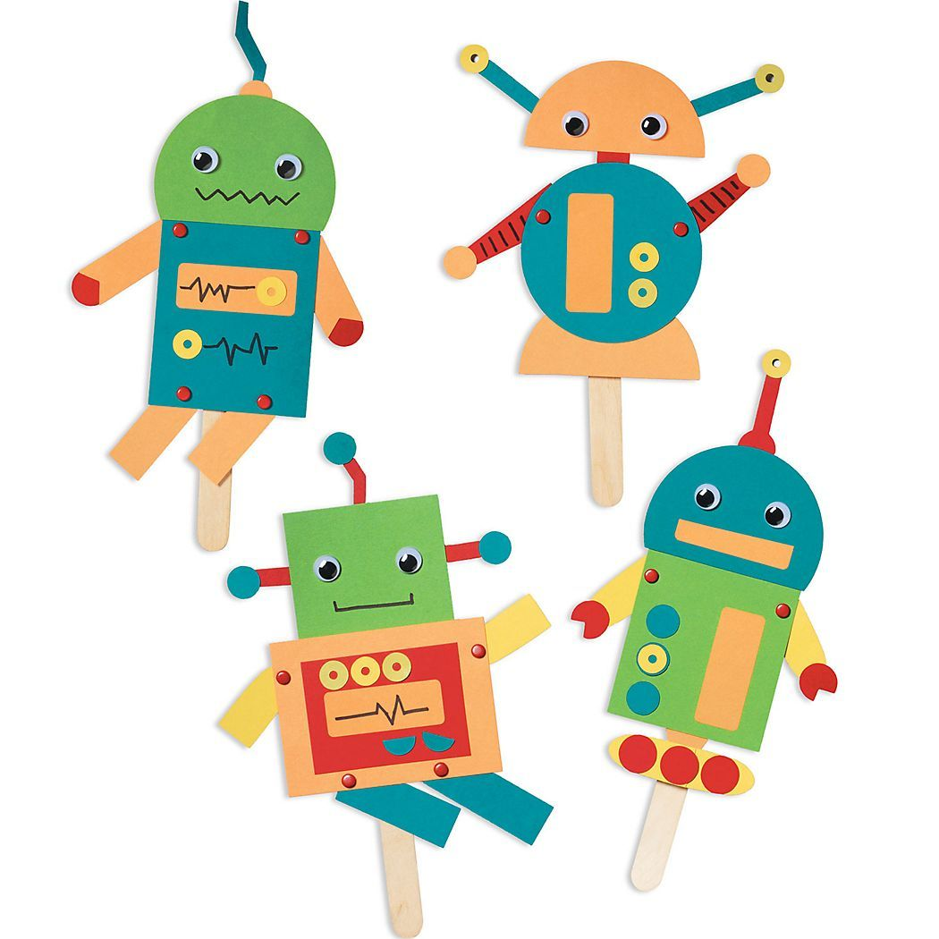 Robot Craft These Fun Friends And Their Science Fiction Stories With The Robot Kit From