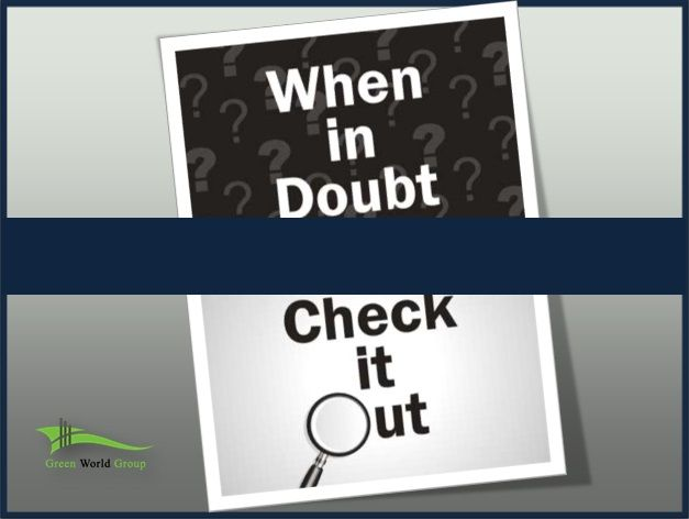 Today Safety Slogan When In Doubt Check It Out By Green World