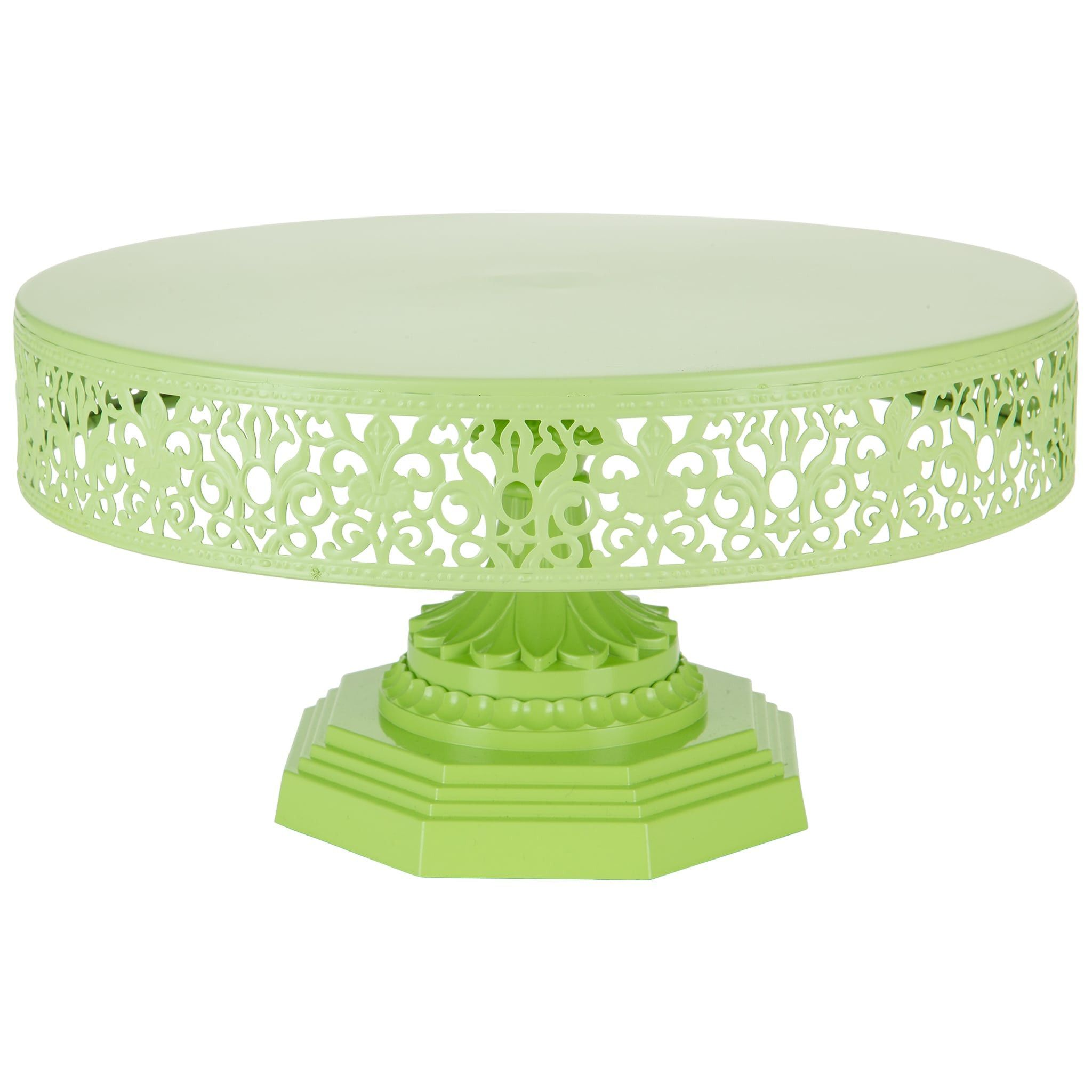 12 Metal Wedding Cake Stand Lime Green Isabelle Collection Metal Wedding Cake Stands Metal Cake Stand Green Cake Stand