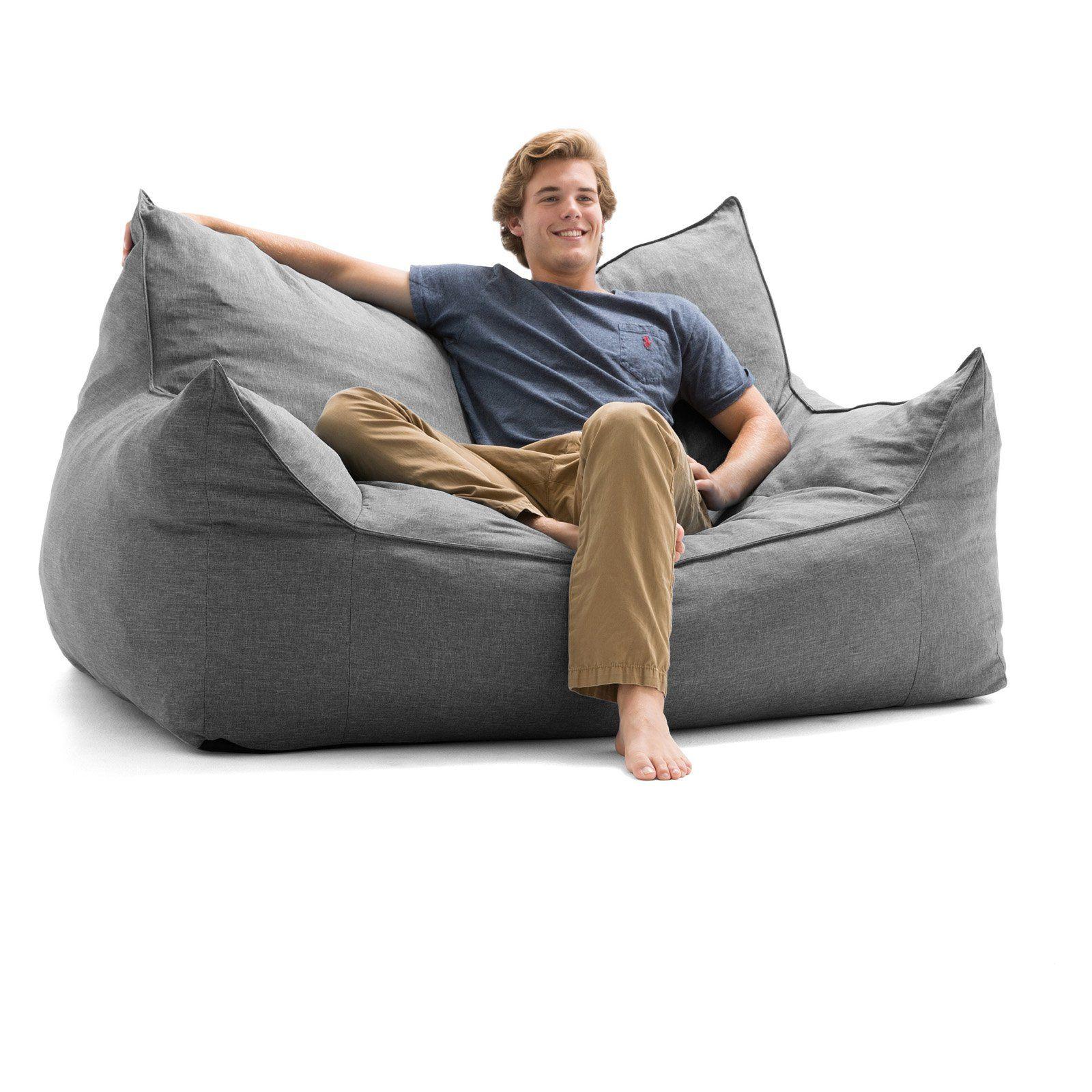 Union Grey Union Comfort Research Big Joe Hug Bean Bag Chair