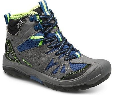 Kids 181394: Merrell Capra Mid Kids, Waterproof Walking Boots For Kids, Grey BUY IT NOW ONLY: $61.35