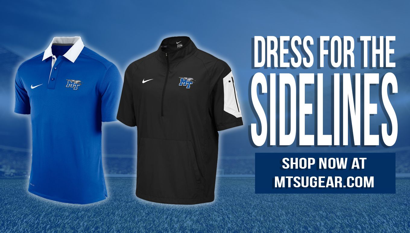 The Wait Is Over Mtsu Nike Sideline Apparel Is Here Shop Now At Mtsugear Com Https Mtsu Textbookbrokers Com Apparel 2 Mens Tops Men S Polo Shirt Shop Now