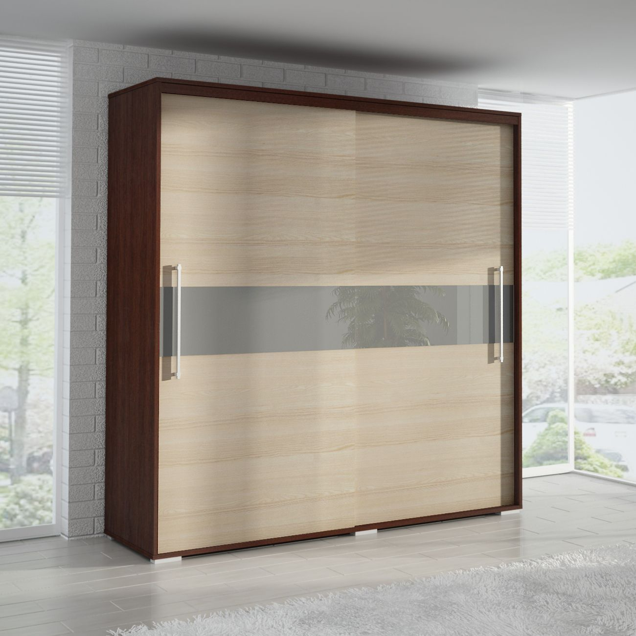 Wardrobe closet sliding door calegion master bedroom for 4 door wardrobe interior designs