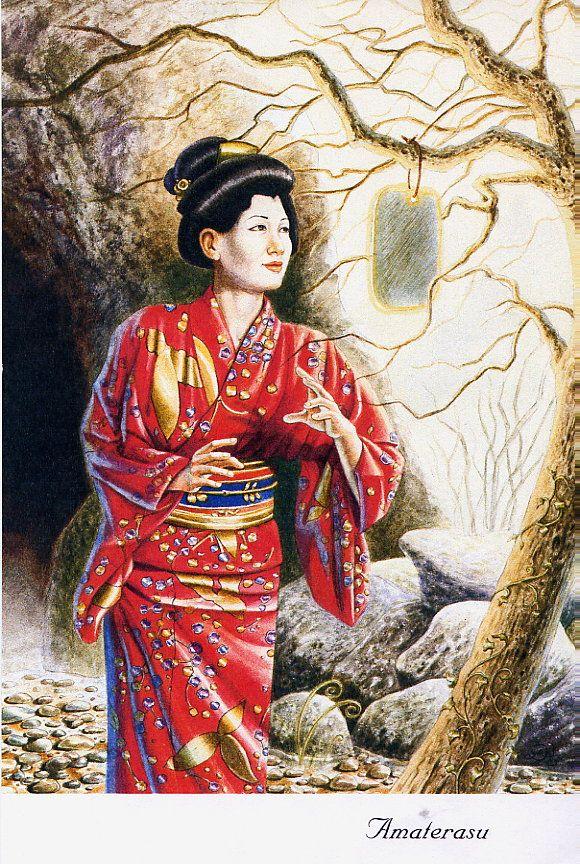 Amaterasu Shinto Sun Goddess Amaterasu Goddess Art Oriental Art