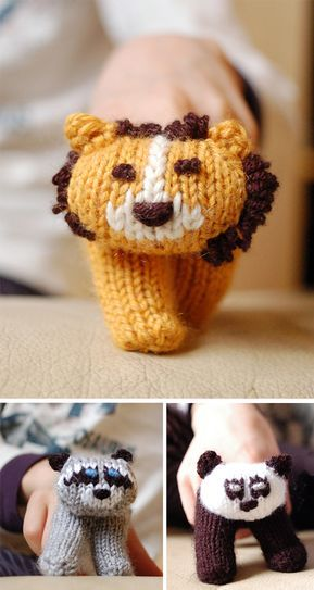 Free Knitting Pattern For Two Finger Puppets Knitting Pinterest