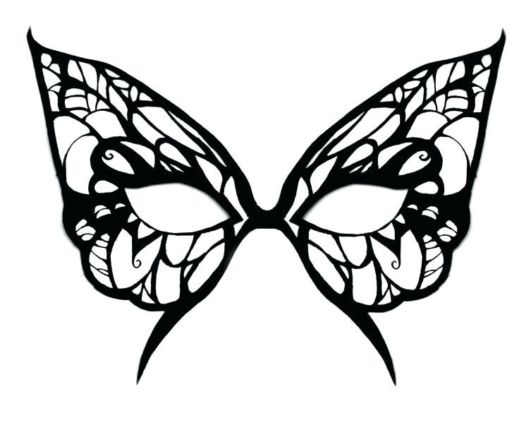 Masquerade Mask Coloring Pages Printable Masks Templates To Print Template Invitations Ball