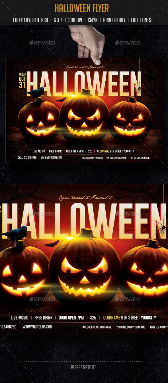 Halloween | Flyer template, Flyers and Halloween party