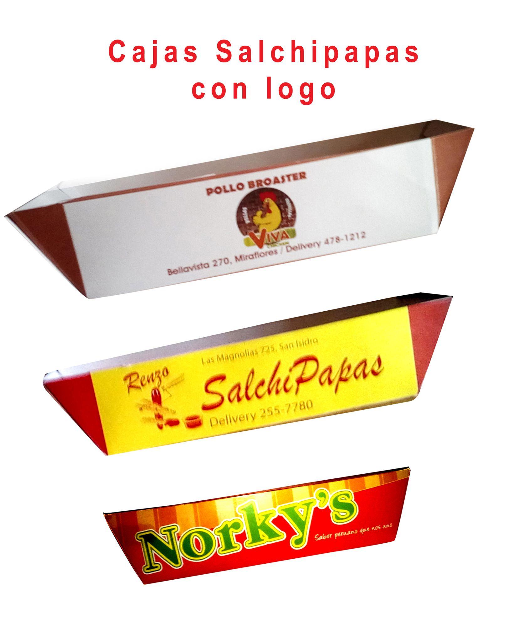 98b3863b2 Cajas para salchipapas, pollo broaster, ,etc., personalizadas con logo  delivery todo