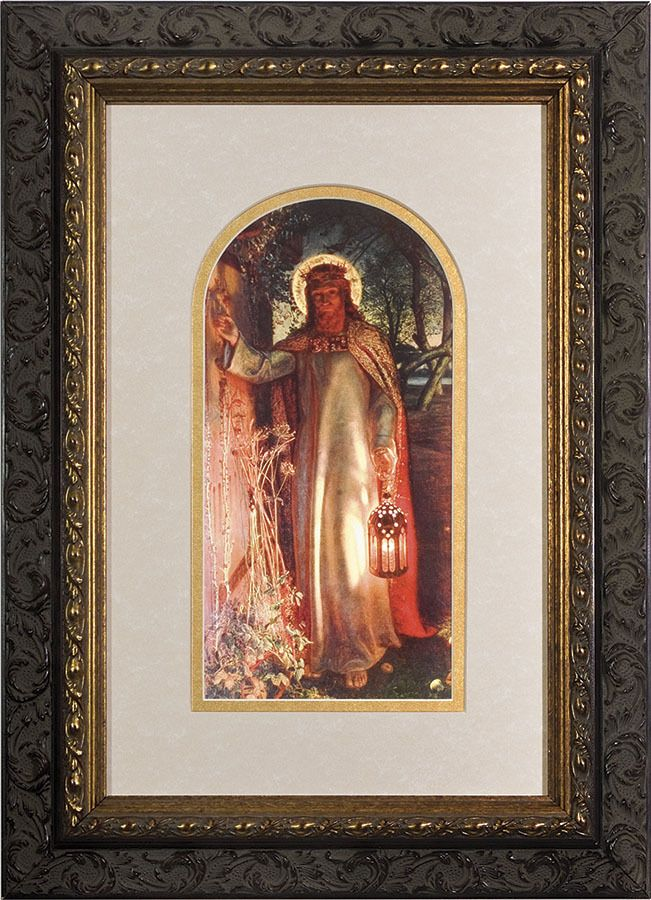 Light of the World Matted - Ornate Dark Framed Art | Catholic store ...