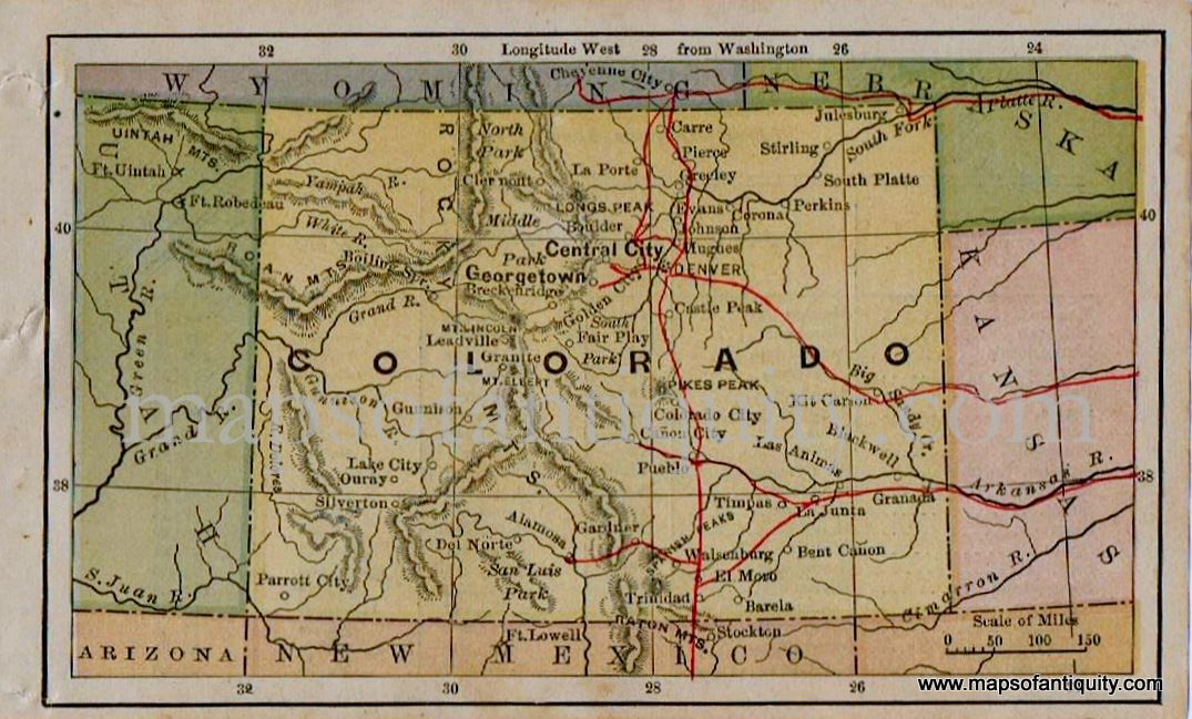 Pin On Antique Maps Prints Of Colorado