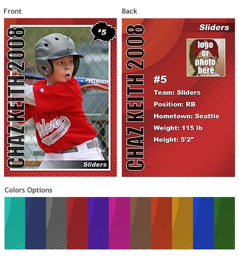 Sports Trading Cards Template Vol 2 Trading Card Template Baseball Card Template Baseball Trading Cards