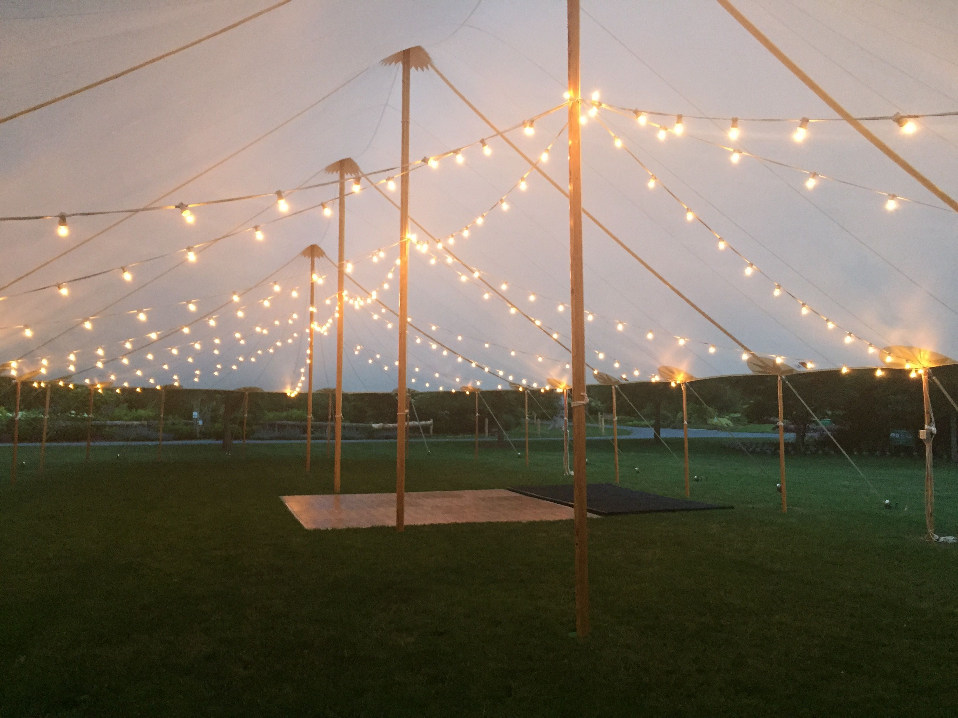 Italian bistro cafe string light rental for wedding reception in - Beautiful Sail Cloth Tent From A Tent For Rent Located In The Maple Grove The