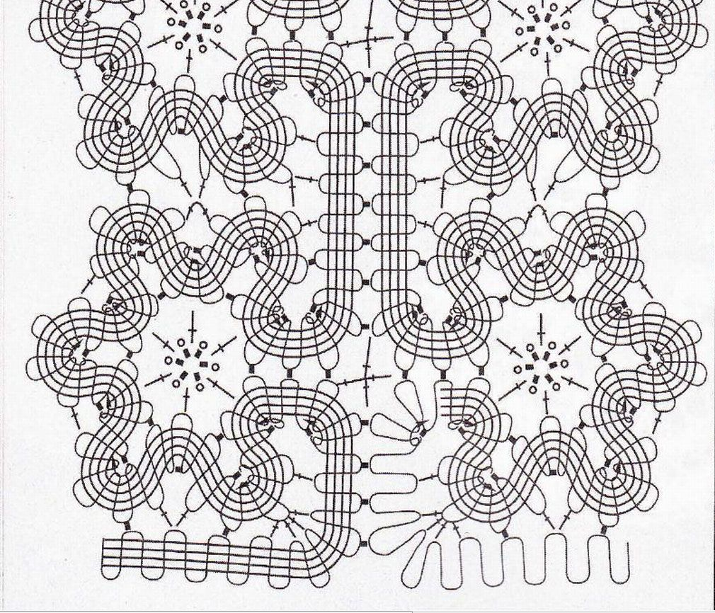 Схема фрагмента | brugges crochet | Pinterest | Brujas, Encaje y Bolos