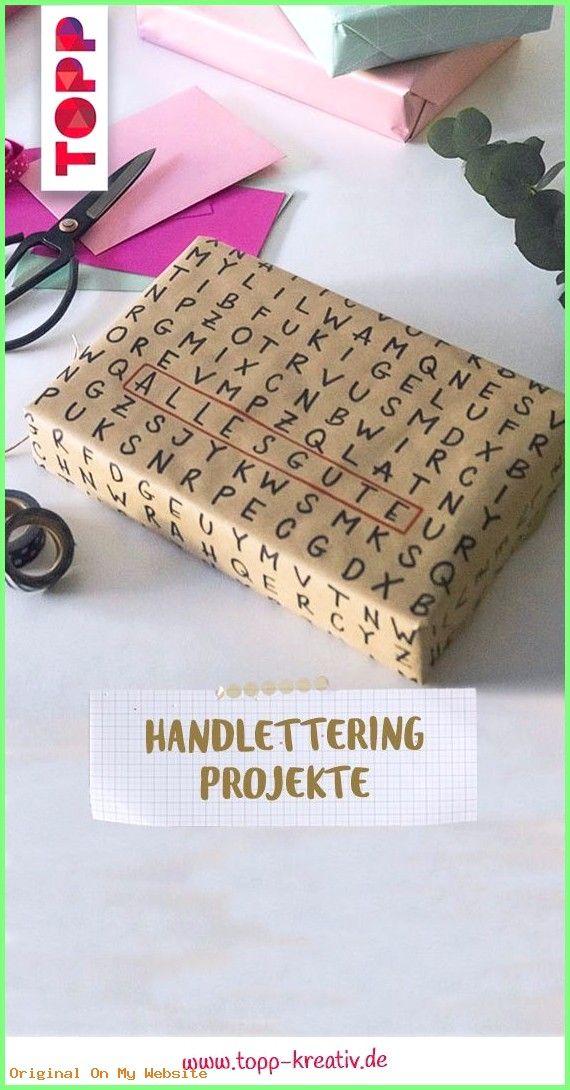 Geschenkverpackung: In unserem Buch findest du Handlettering Anleitungen und Inspiration für …