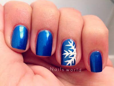 Diy Snowflake Nail Art Nails Pinterest Snowflake Nail Art