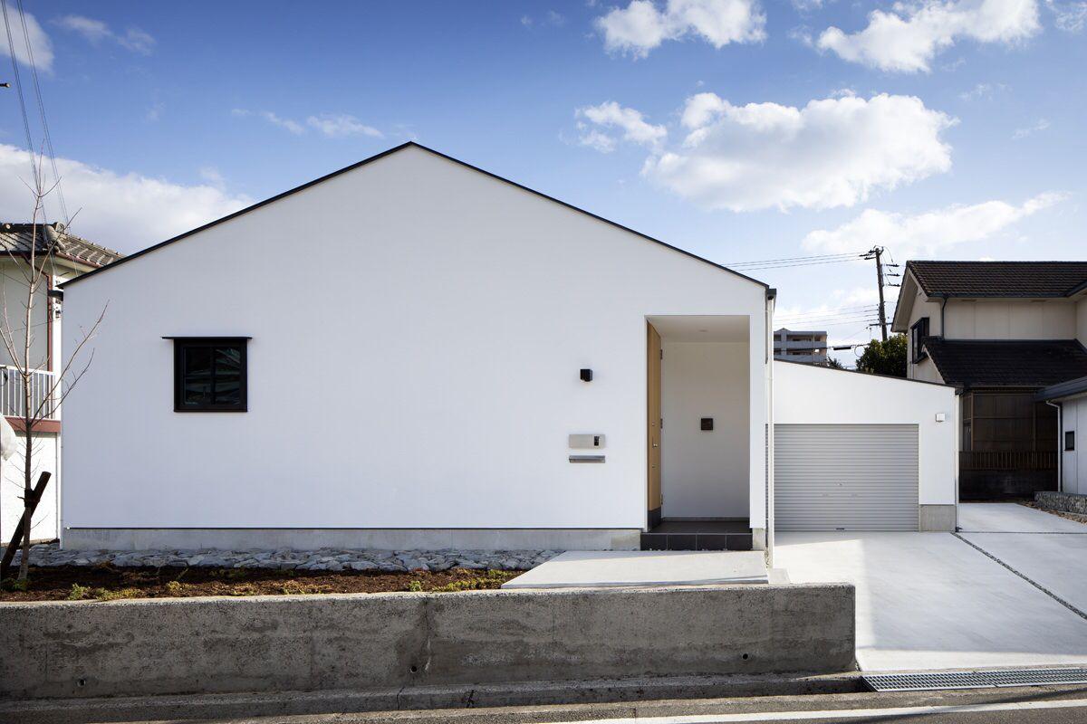 川西台の家の外観 ホームウェア モダンハウスデザイン 住宅 外観