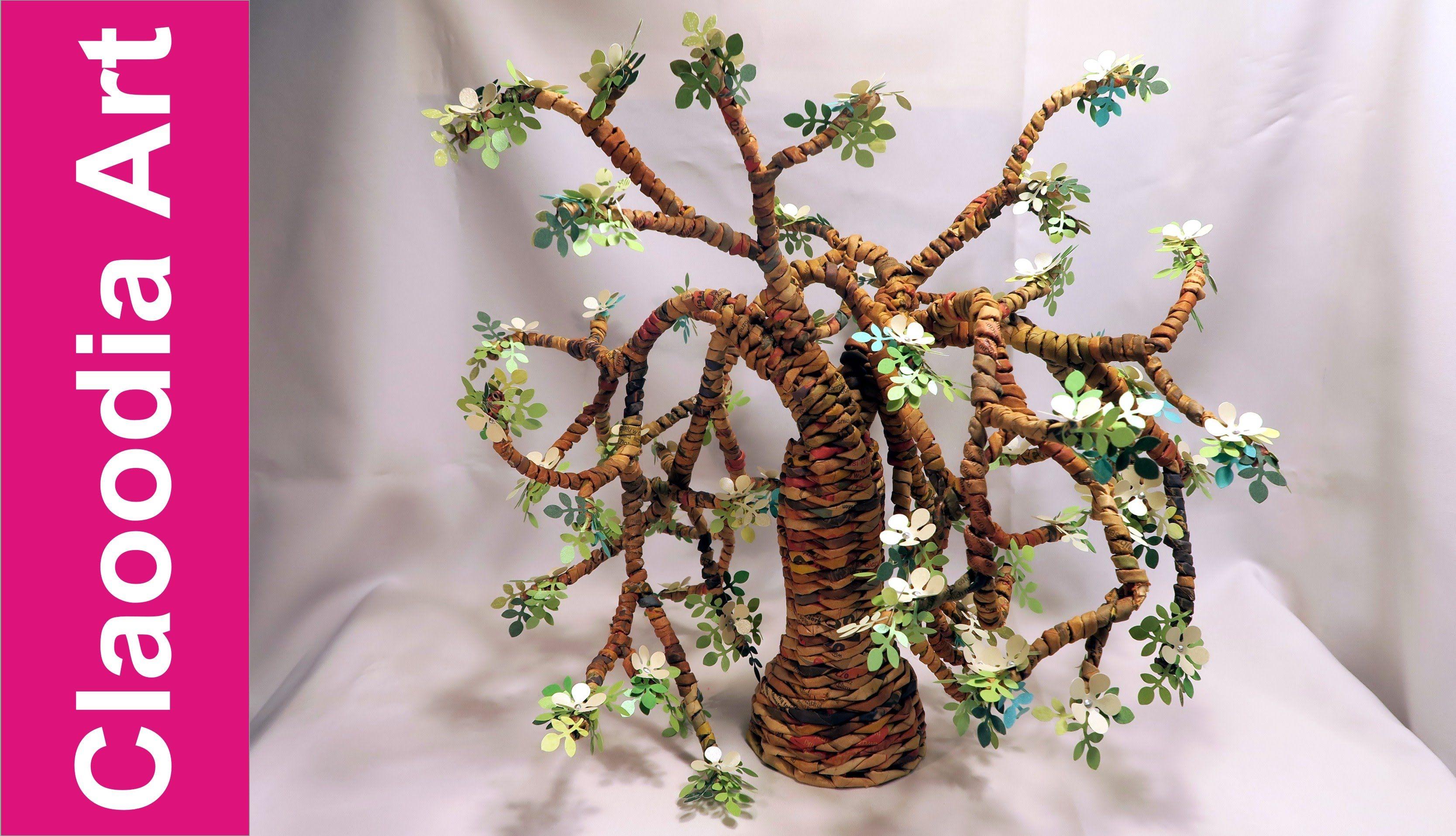 Drzewo Z Papierowej Wikliny Tree From Newspaper Wicker Paper Crafts Wicker Diy Paper