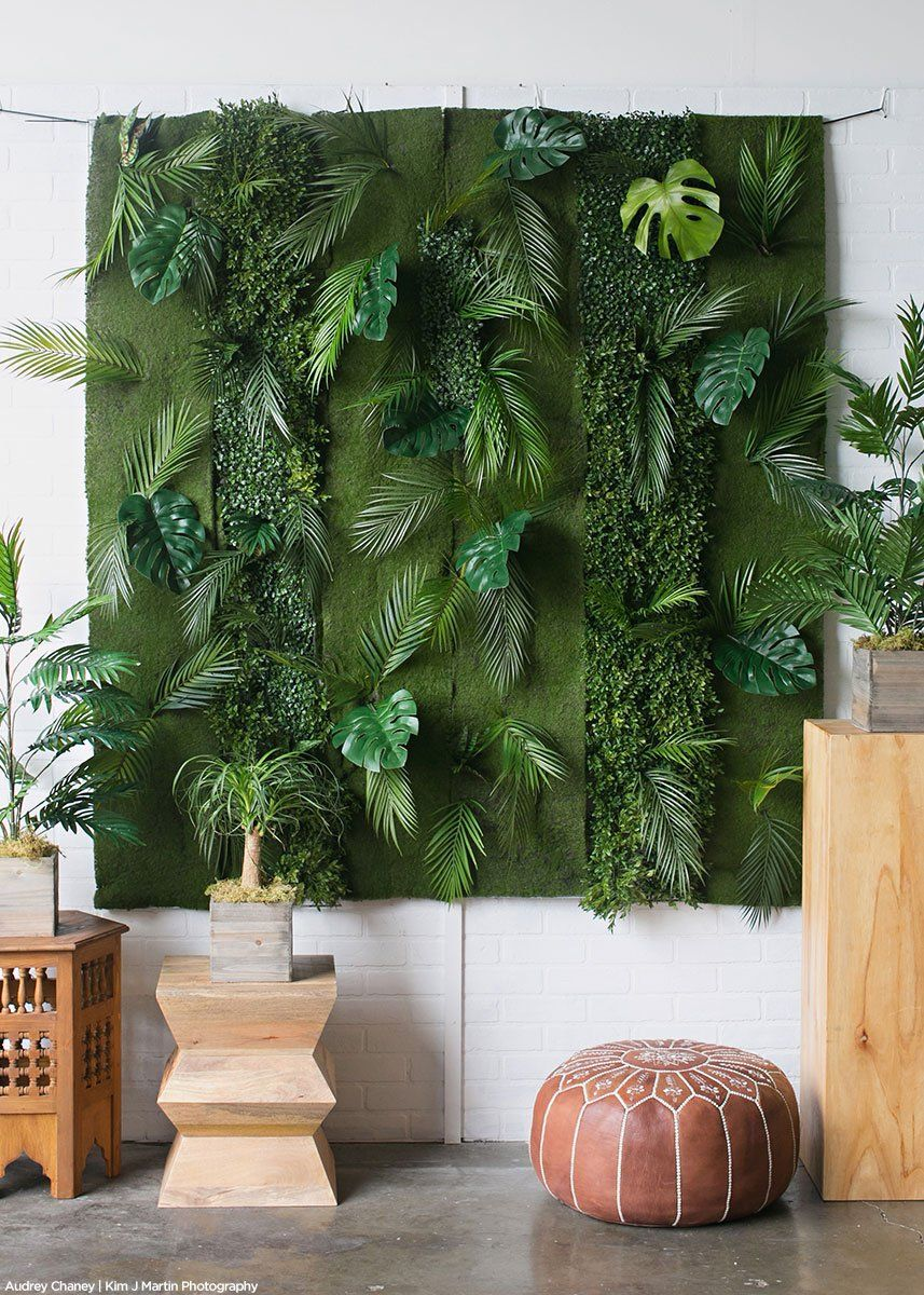 Artificial Monstera Leaves Palm Leaf Decor Hanging Plants Moss